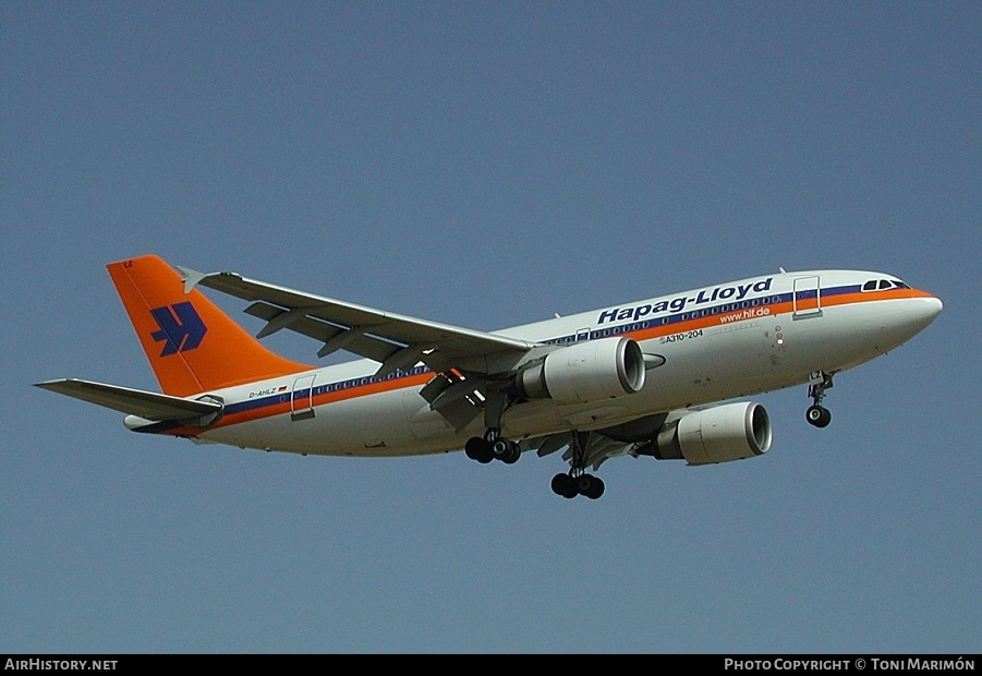 Aircraft Photo of D-AHLZ | Airbus A310-204 | Hapag-Lloyd | AirHistory.net #215413