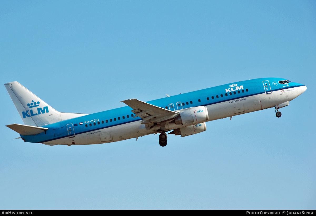 Aircraft Photo of PH-BDU | Boeing 737-406 | KLM - Royal Dutch Airlines | AirHistory.net #226539