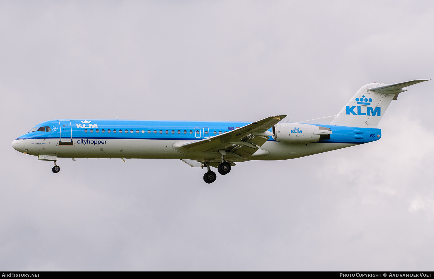 Aircraft Photo of PH-OFM | Fokker 100 (F28-0100) | KLM Cityhopper | AirHistory.net #227057