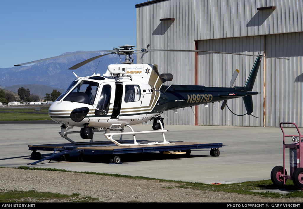 Aircraft Photo of N997SD | Eurocopter AS-350B-3 Ecureuil | Riverside County Sheriff | AirHistory.net #227295
