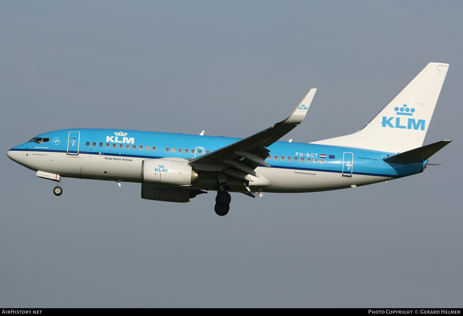 Aircraft Photo of PH-BGT | Boeing 737-7K2 | KLM - Royal Dutch Airlines | AirHistory.net #229680