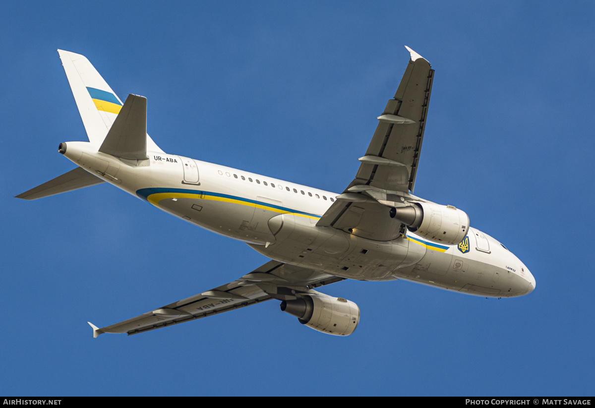 Aircraft Photo of UR-ABA | Airbus ACJ319 (A319-115/CJ) | Ukraine Government | AirHistory.net #233423
