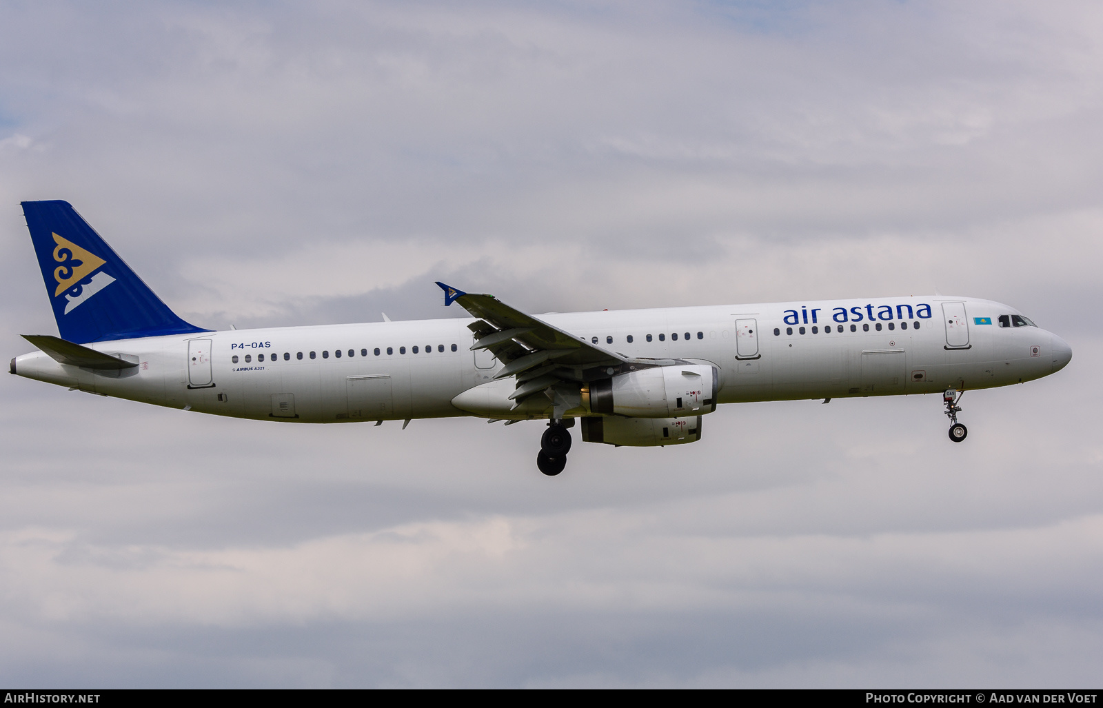 Aircraft Photo of P4-OAS | Airbus A321-131 | Air Astana | AirHistory.net #235331