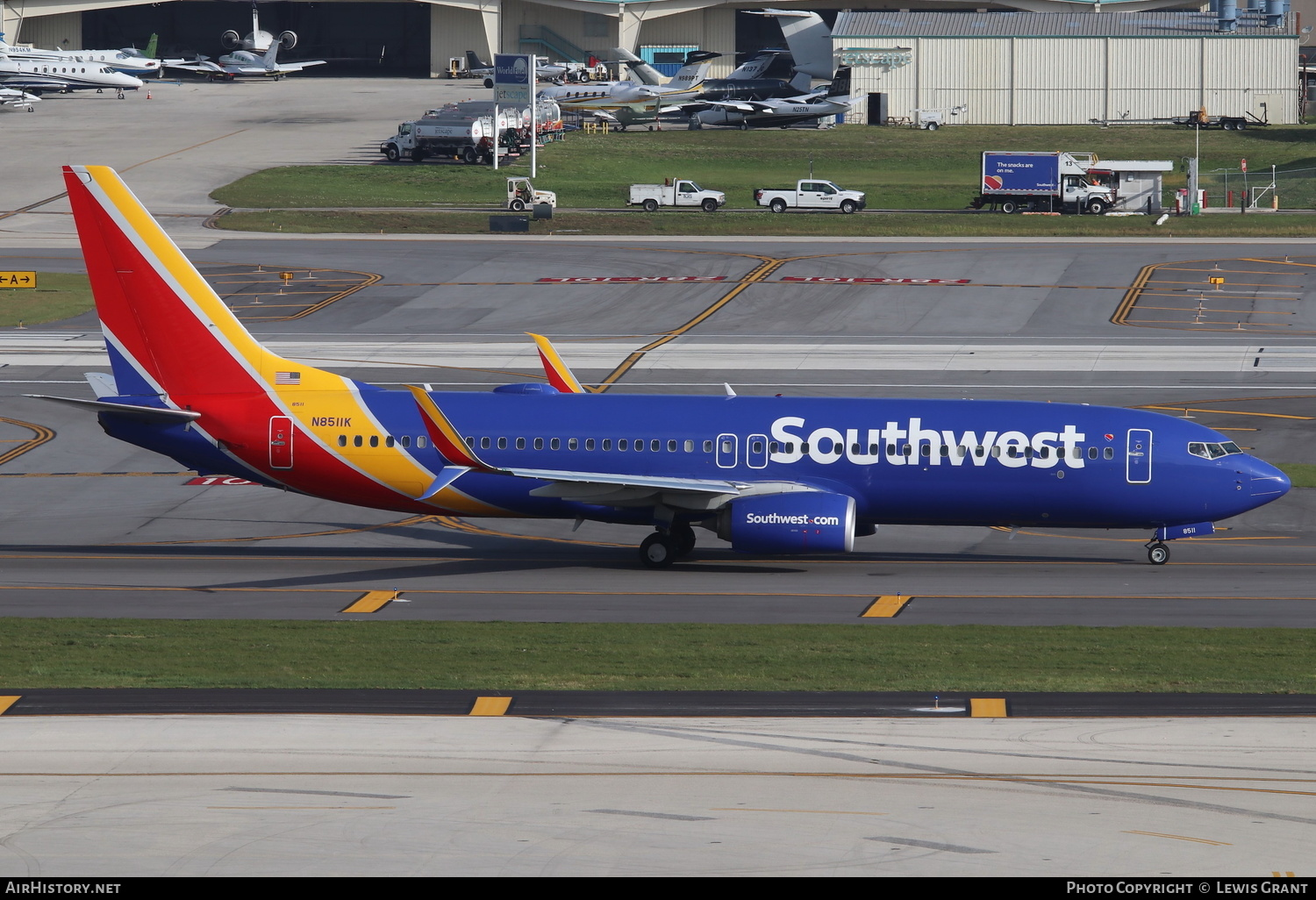 Aircraft Photo of N8511K | Boeing 737-8H4 | Southwest Airlines | AirHistory.net #241689