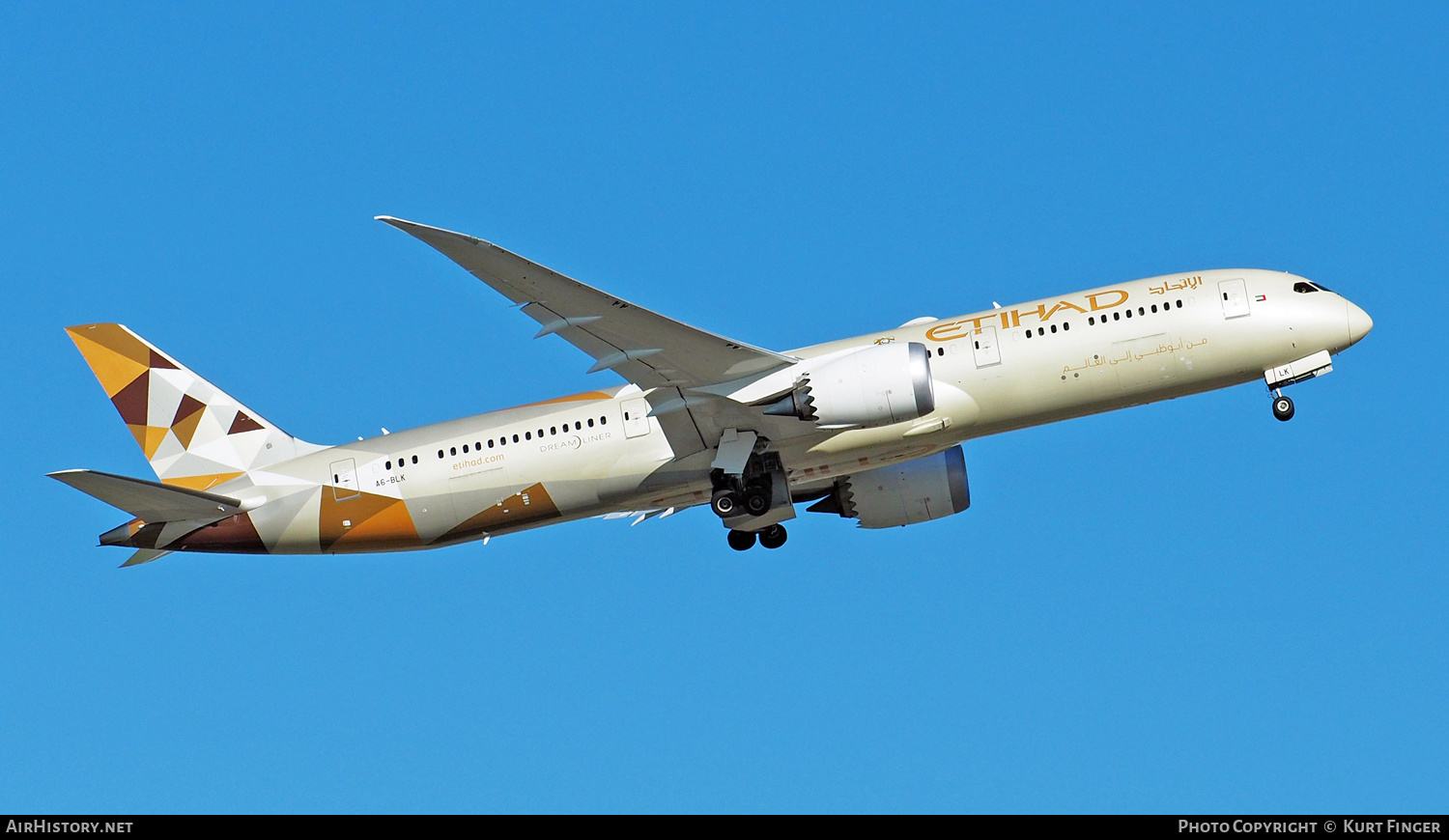 Aircraft Photo of A6-BLK | Boeing 787-9 Dreamliner | Etihad Airways | AirHistory.net #241754