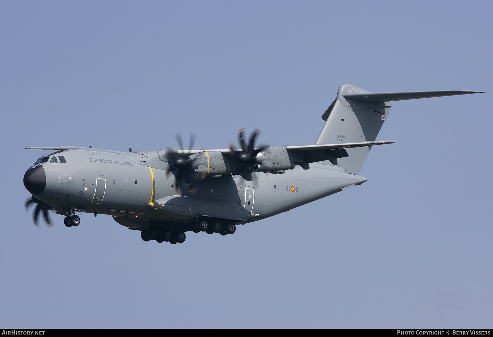 Aircraft Photo of T23-01 | Airbus A400M Atlas | Spain - Air Force | AirHistory.net #241763