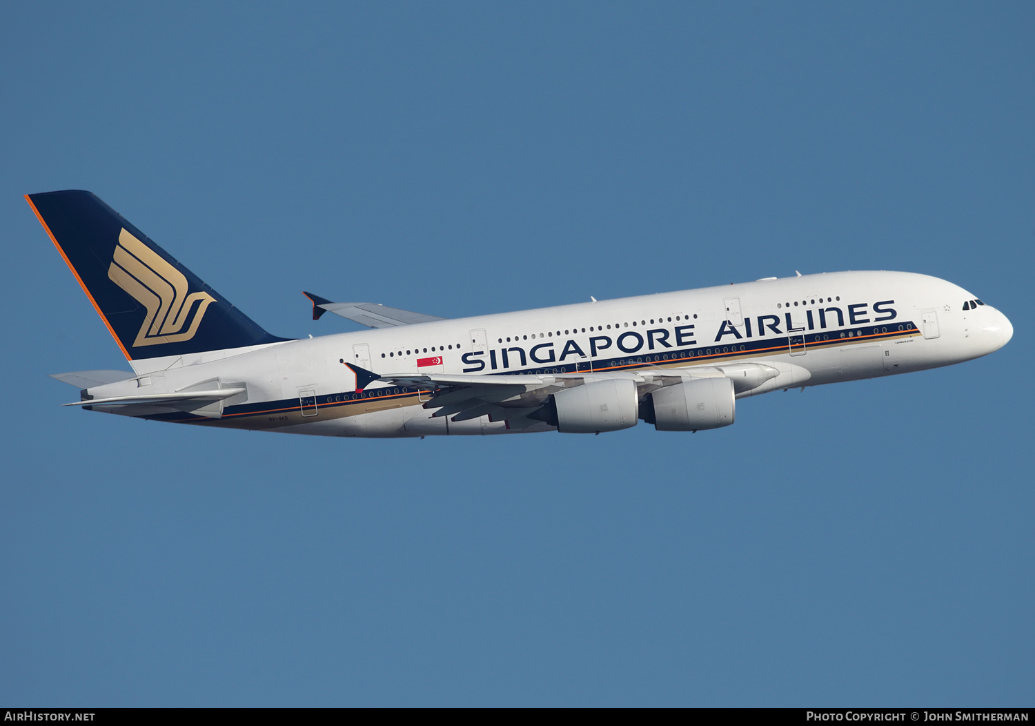Aircraft Photo of 9V-SKG | Airbus A380-841 | Singapore Airlines | AirHistory.net #317180