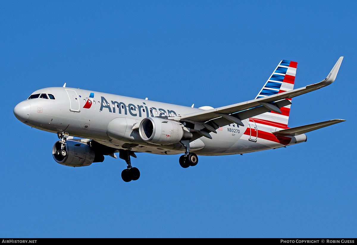Aircraft Photo of N8027D | Airbus A319-115 | American Airlines | AirHistory.net #351340