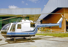Aircraft photo of PT-HET - MBB BO-105D, taken by R.A.Scholefield at São Paulo - Marte (SBMT) in Brazil on 6 April 1975. Bolkow (MBB) Bo-105 at Sao Paulo's general aviation airfield at Marte.