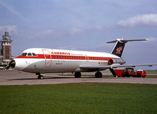 Aircraft Photo of G-AVOE | BAC 111-416EK One-Eleven | Cambrian Airways - British Air Services | AirHistory.net #9889
