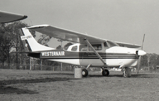 Aircraft photo of VH-UNH - Cessna 210D Centurion - Westernair, taken by David Carter at Sydney - Bankstown (YSBK / BWU) in New South Wales, Australia in October 1969. VH-UNH was destroyed when it flew into Mount Macedon, Victoria, on June 8, 1998.