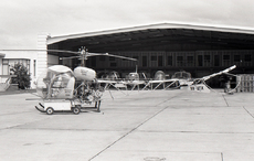 Aircraft photo of VH-UTX - Bell 47G-3B-1 - Helicopter Utilities, taken by David Carter at Sydney - Kingsford Smith International (YSSY / SYD) in New South Wales, Australia in October 1969. VH-UTX was on the Papua New Guinea register from 1974 to 1981 (as P2-UTX). It crashed at Well Tree Station, Northern Territory on January 25, 1986.