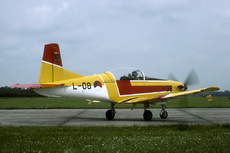 Aircraft photo of L-08 - Pilatus PC-7 - Netherlands - Air Force (EMVO - Elementaire Militaire Vlieger Opleiding), taken by Joop de Groot at Leeuwarden (EHLW / LWR) in Netherlands on 9 June 1990 during the Open Dagen Koninklijke Luchtmacht 1990. This aircraft was the solo display aircraft at the 1990 open house.
