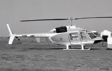Aircraft photo of VH-PMR - Bell 206A JetRanger - Department of Main Roads, taken by David Carter at Sydney - Kingsford Smith International (YSSY / SYD) in New South Wales, Australia in October 1969. VH-PMR replaced Bell 47J Ranger VH-DMR. It in turn was replaced by 206B JetRanger II VH-TMR in 1973. -PMR was converted to a 206B JetRanger in 1976 and in January 2004 was reregistered VH-CSH.