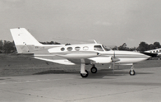 Aircraft photo of VH-SAB - Cessna 402A, taken by David Carter at Sydney - Bankstown (YSBK / BWU) in New South Wales, Australia in October 1969. VH-SAB was transferred to the Papua New Guinea register as P2-SAB in May 1974.