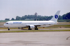 Aircraft photo of OO-SBY - Boeing 767-33A/ER - Sobelair, taken on 1 July 1994 by Alastair T. Gardiner.