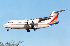 Aircraft photo of D-AJET - British Aerospace BAe-146-200 - Conti-Flug, taken on 13 November 1993 by Alastair T. Gardiner.