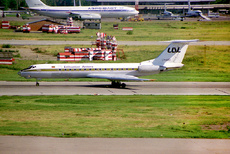 Aircraft photo of LY-ABD - Tupolev Tu-134A - Lithuanian Airlines, taken on 26 June 1995 by Alastair T. Gardiner.