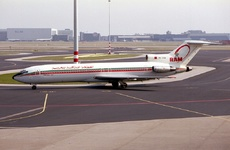 Aircraft photo of CN-CCW - Boeing 727-2B6/Adv - Royal Air Maroc - RAM, taken on 30 March 1993 by Alastair T. Gardiner.