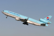 Aircraft photo of HL7371 - McDonnell Douglas MD-11(F) - Korean Air Cargo, taken on 5 November 2004 by Alastair T. Gardiner.