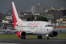 Aircraft photo of HC-CJB - Boeing 737-548 - Air Cuenca, taken by Sandro Rota at Quito - Mariscal Sucre (SEQU / UIO) (closed) in Ecuador on 1 March 2011. Air Cuenca was an airline from Cuenca that began operations in late 2010 with one 737-500. Things didn't go as planned and the airline ceased operations in 2011.