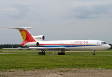 Aircraft photo of EX-85718 - Tupolev Tu-154M - Altyn Air, taken by David Unsworth at Hanover (EDDV / HAJ) in Germany on 28 August 2005. One of the nicest schemes I've seen on a TU154