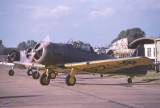 Aircraft photo of G-BIWX/FT239 - North American T-6J Harvard Mk IV, taken on 28 August 1988 by Alex Christie.