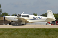 Aircraft photo of N2186J - Mooney M-20S Eagle, taken on 26 July 2012 by Alex Christie.