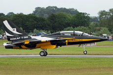 Aircraft photo of 10-0054/5 - Korea Aerospace T-50B Golden Eagle - South Korea - Air Force, taken on 7 July 2012 by Trevor Thornton.