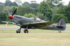 Aircraft photo of G-MXVI/TE184 - Supermarine 361 Spitfire LF16E, taken on 13 June 2010 by Trevor Thornton.
