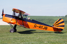 Aircraft photo of G-AYJB - Stampe-Vertongen SV-4C, taken on 22 May 2010 by Trevor Thornton.