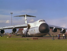 Aircraft photo of 66-8304 - Lockheed C-5A Galaxy (L-500) - USA - Air Force, taken by Trevor Thornton at Mildenhall (EGUN / MHZ) in England, United Kingdom on 23 May 1981 during the Mildenhall Air Fete 1981.