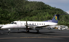 Aircraft photo of VH-RPX - Embraer EMB-120ER Brasilia - Regional Pacific Airlines, taken by Peter Gates Collection at Cairns (YBCS / CNS) in Queensland, Australia in March 2005. Regional Pacific Airlines ceased operations in June 2010.