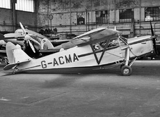 Aircraft photo of G-ACMA - De Havilland DH.85 Leopard Moth, taken by Jerry Hughes at London - Croydon (EGGC) (closed) in England, United Kingdom in 1959. Impressed August 1940 as BD148
