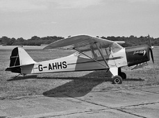 Aircraft photo of G-AHHS - Auster J-1 Autocrat, taken by Jerry Hughes at Biggin Hill (EGKB / BQH) in England, United Kingdom in 1959. 'Spookie Darling' - Ditched off Berck, France April 15, 1963