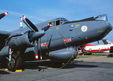 Aircraft photo of WR960 - Avro 696 Shackleton AEW2 - UK - Air Force (8 Sqn), taken by Jerry Hughes at Mildenhall (EGUN / MHZ) in England, United Kingdom on 30 May 1982 during the Mildenhall Air Fete 1982. 8 Squadron