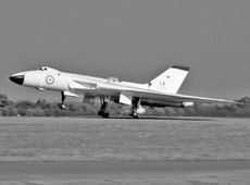 Aircraft photo of XJ825 - Avro 698 Vulcan B.2 - UK - Air Force (27 Sqn), taken by Jerry Hughes at Biggin Hill (EGKB / BQH) in England, United Kingdom on 17 September 1961 during the Biggin Hill Battle of Britain Day 1961. 27 Sqd. Scampton (squadron's elephant insignia on the fin)