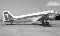 Aircraft photo of VH-SBO - Douglas DC-3(C) - TAA Airlines of New Guinea, taken by Peter Gates at Brisbane (YBBN / BNE) in Queensland, Australia in October 1969. Originally built as a C-47A.