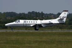 Aircraft photo of CS-DHD - Cessna 550B Citation Bravo, taken on 30 July 2011 by Tom Cole.