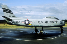 Aircraft photo of 52-5385 / 25385 / FU-385 - North American F-86F Sabre - USA - Air Force (32 FIS), taken by Marinus Dirk Tabak (via Joop de Groot) at Utrecht - Soesterberg (EHSB / UTC) (closed) in Netherlands on 25 August 2018 at the Nationaal Militair Museum - NMM. Photo taken during the