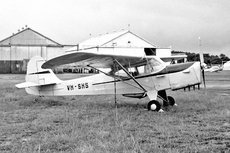 Aircraft photo of VH-SHS - Auster J-1B Aiglet, taken by Geoff Goodall (via David Carter) at Sydney - Bankstown (YSBK / BWU) in New South Wales, Australia in May 1963.