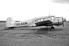 Aircraft photo of VH-ASM - Avro 652A Anson I - Marshall Airways, taken by Geoff Goodall (via David Carter) at Sydney - Bankstown (YSBK / BWU) in New South Wales, Australia in May 1963. VH-ASM languished at Bankstown after all Ansons were grounded and was later being stored in Marshall's compound on the edge of the airport. It had been East-West Airlines' first aircraft and was acqui...