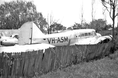 Aircraft photo of VH-ASM - Avro 652A Anson I - Marshall Airways, taken by Geoff Goodall (via David Carter) at Sydney - Bankstown (YSBK / BWU) in New South Wales, Australia in September 1965. VH-ASM in Sid Marshall's compound on the edge of Bankstown airport. Marshall had a sentimental attachment to the aircraft because its registration were his initials. After the Anson was cancelled, he ...