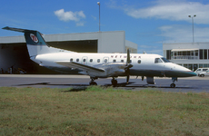 Aircraft photo of VH-NIF - Embraer EMB-120(ER) Brasilia - Network Aviation, taken by Peter Gates at Brisbane (YBBN / BNE) in Queensland, Australia in March 2000. Looking smart in the Network livery.