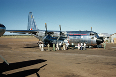 Aircraft photo of A97-205 - Lockheed C-130A Hercules (L-182) - Australia - Air Force, taken in 1959 by Ben Dannecker (via David Carter).