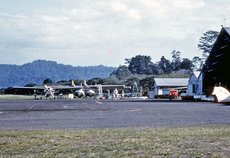 Airport photo of Lae (AYLA / LAE) (closed) in Papua New Guinea, taken in 1959 by Ben Dannecker (via David Carter).
