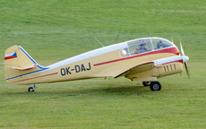 Aircraft photo of OK-DAJ - Let Aero Ae-145 Super Aero 145, taken by Aad van der Voet at Kirchheim unter Teck - Hahnweide (EDST) in Germany on 7 September 2013 during the Oldtimer Fliegertreffen Hahnweide 2013. Delivered as YU-BBL in 1964, sold as SL-DAJ in 1992 and to S5-DAJ by 2002. Became OK-DAJ in July 2007 and now operated by the Aeroklub Zbraslavice.
