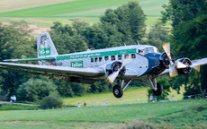 Aircraft photo of HB-HOP - Junkers Ju 52/3mg4e - Ju-Air, taken by Aad van der Voet at Kirchheim unter Teck - Hahnweide (EDST) in Germany on 7 September 2013 during the Oldtimer Fliegertreffen Hahnweide 2013. In Falken