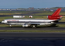 Aircraft photo of N156US - McDonnell Douglas DC-10-40 - Northwest Airlines, taken by Gerry Barron at Boston - General Edward Lawrence Logan International (KBOS / BOS) in Massachusetts, United States on 6 August 1988.