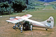 Aircraft photo of VH-EAZ - De Havilland Canada DHC-3 Otter - Qantas, taken in 1959 by Ben Dannecker (via David Carter).
